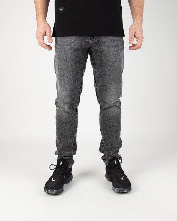 Spodnie SSG Jeansy Stretch Skinny Guma Grey