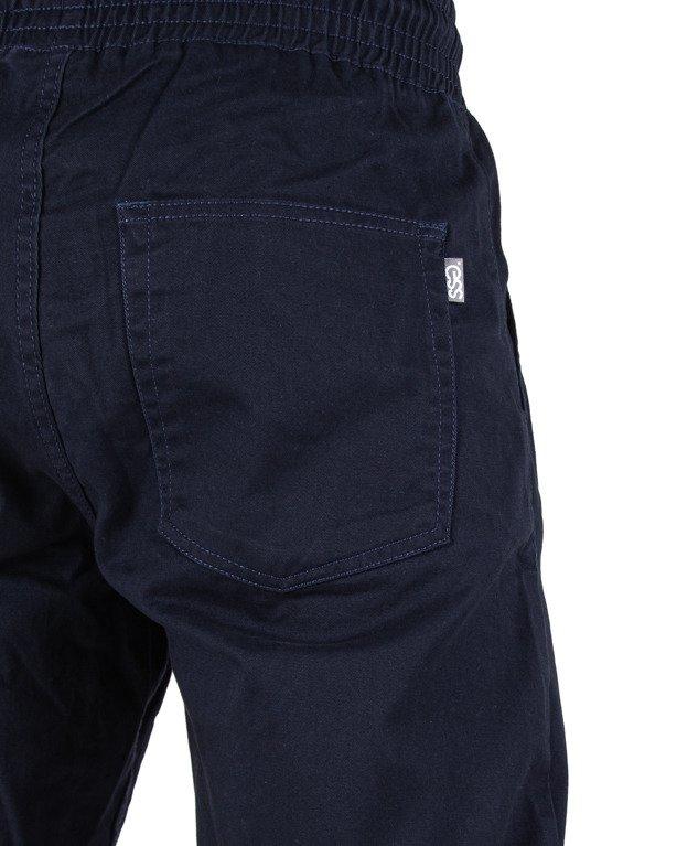 Spodnie Ssg Chino Skinny Guma Navy