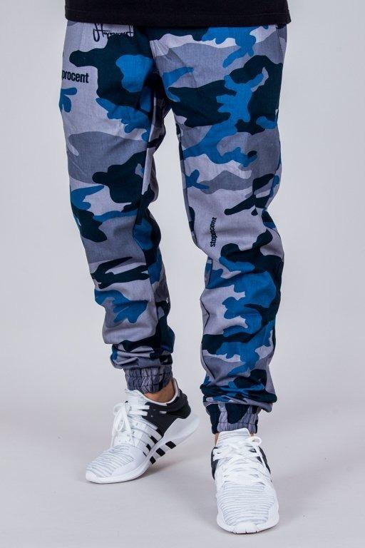 Stoprocent Spodnie Chino Jogger Classic Camo Navy Blue