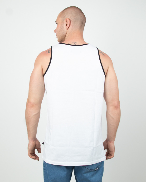 Tank Top Lucky Dice Tape White