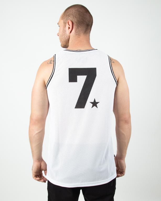 Tanktop Lucky Dice Jersey Seven Ld White-Black