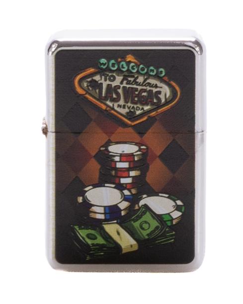 Zapaliczka Metalowa Poker Tokens Silver 62